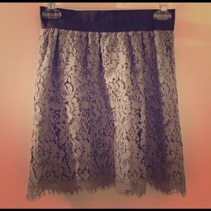 J crew lace mini skirt